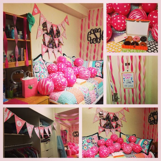 Streamers i am and big little on pinterest for Room decoration ideas on birthday