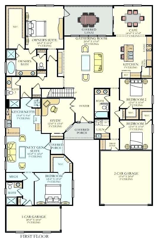 3 Bed 2 Bath House Plansfresh 3 Bed 2 Bath House Plans And Awesome 2 Bedroom 2 Bath Ho Multigenerational House Plans One Bedroom House Plans Unique Floor Plans