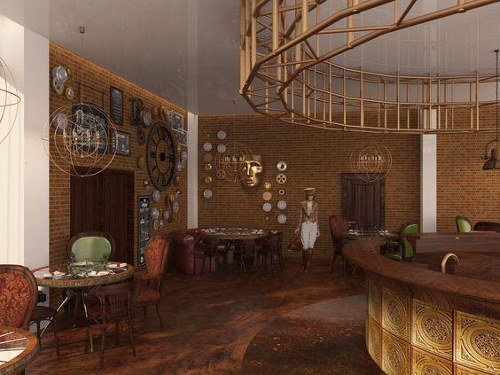 Steampunk cafe :)