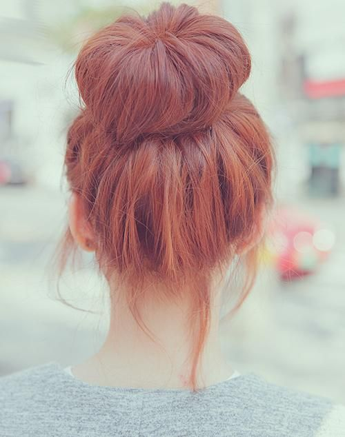 Bun hair style which i love and this is the colour of my hair