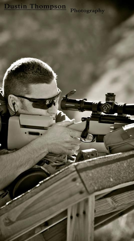 SoCal Precision Rifle Team member James Jeffries takes aim.  (Crossbow, photo credit Dustin Thompson Photography)