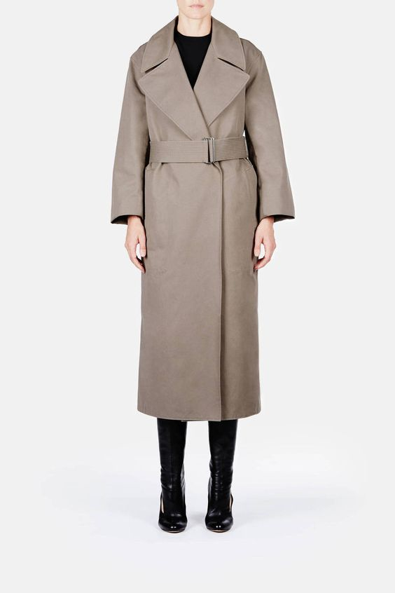 Christophe Lemaire — Trench Coat Olive Grey — THE LINE