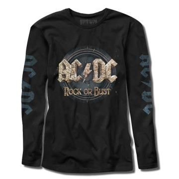 Manga Longa - ACDC Rock or Bust - FATUM - Geek on the Rocks