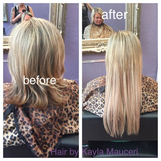 Before And After 18 Inch And 22 Inch Skin Weft Extensions Hair By