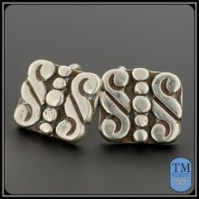 Vintage Mexican Sterling Silver Cufflinks - Taxco
