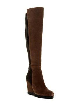 Wanda Knee-High Wedge Boot
