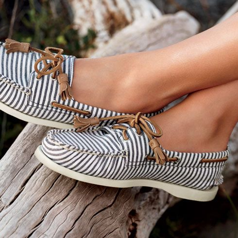 Sperry Boat Shoe...a friend had a pair of Sperrys and I'd never heard of them...so I got on Pinterest and looked em up...these are my fav ones so far! They look comfy...are they? aaj