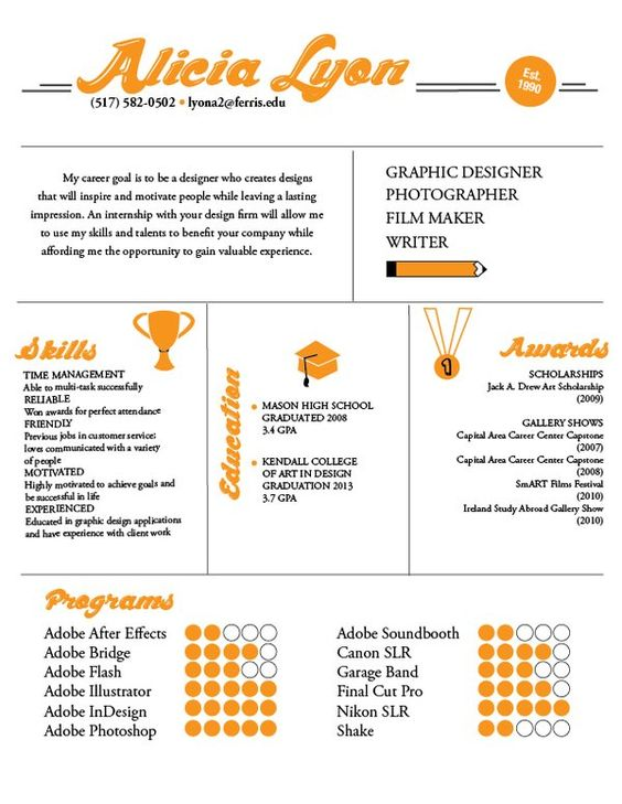 28 Amazing Examples of Cool and Creative Resumes\/CV - Cv, Creatief - career goal for resume