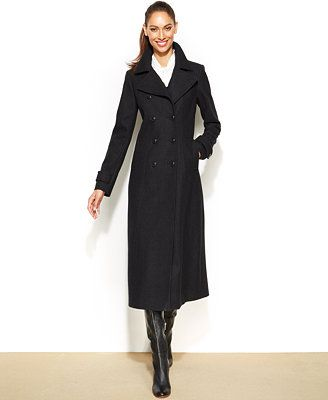 DKNY Double-Breasted Wool-Blend Maxi Coat | Winter Fashion: Long