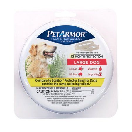 PetArmor Flea and Tick Collar for Large Dogs, 2-Count