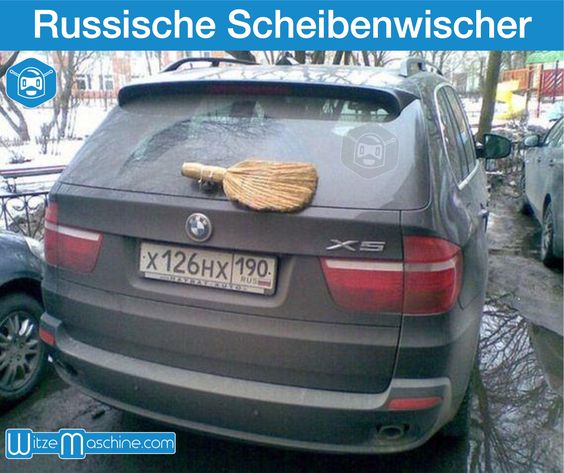 Scheibenwischer in Russland - Russenwitze - Funny Russian Fail