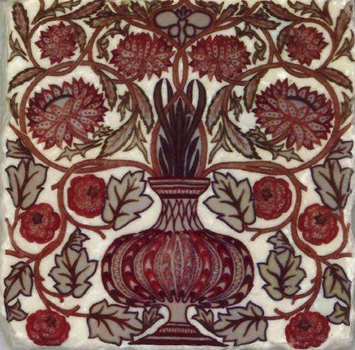 William Morris flower pot tile