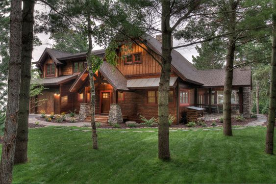 wood lap siding Exterior Rustic with Arts and Crafts board and batten cabin cottage Craftsman