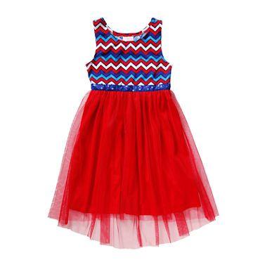 jcpenney.com | Youngland® Sleeveless Americana Chevron Hi-Low Dress - Preschool…