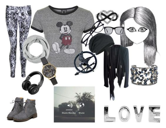 """""""'CAUSE MUSIC IS LIFE"""" by bl0nday on Polyvore featuring Lexie Sport, Topshop, Jewel Exclusive, Forever 21, Gareth Pugh, Alexis Bittar and Olivia Burton"""