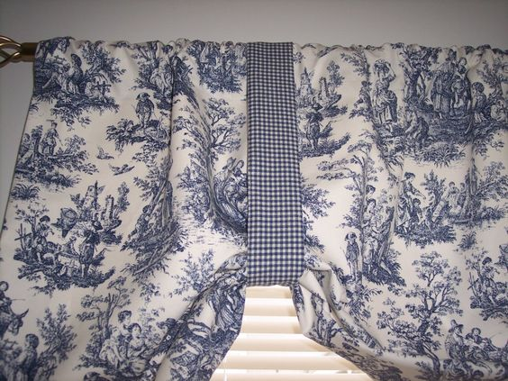 Details about NEW~NAVY DELFT BLUE ON WHITE*WAVERLY*RUSTIC TOILE ...