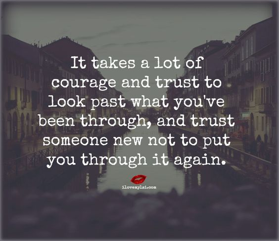 It takes a lot of courage and trust - I Love My LSI ilovemylsi.com