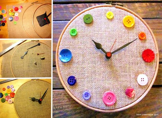 ... bricolage diy buttons originals clock couture buttons diy and crafts