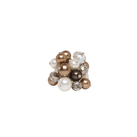 I love the Jardin Pearl Cluster Ring  from LittleBlackBag
