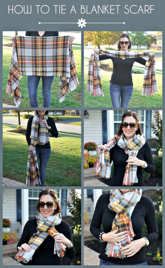 how to wear a thick scarf