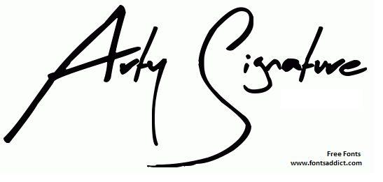 Arty Signature Font Free at fontsaddict.com Download here ...