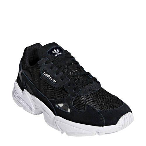 adidas Originals Falcon sneakers zwart/wit - Zwart wit ...