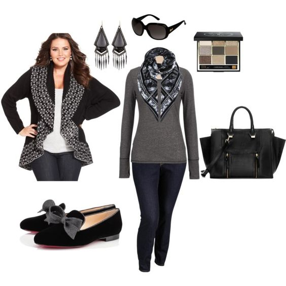 Monochromatic Winter- Plus Size Outfit | Plus Size Outfits Plus size and Outfit