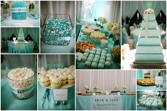 TIFFANY BLUE WEDDING CAKES | Tiffany Blue Wedding Erin Jeff Reception Save The Date