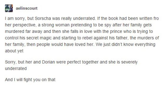 HEIR OF FIRE SPOILERS-------------------------------------------------WhY dID SOrShA HAvE tO DIe wHY WhY WHy?!?!?!?! I LoVEd DORsHa sO MUcH AGH!!!!!