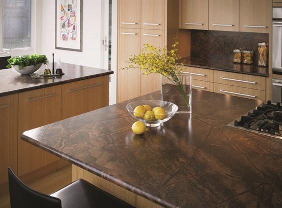 surfaces countertop kitchen wood countertops rainforest brown kitchen ...