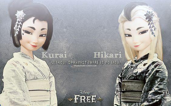 Kurai and Hikari (Darkness and Light) - by stormyhale@tumblr.com