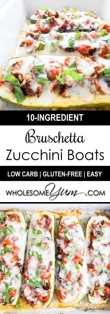 boats zucchini zucchini boats mozzarella tomatoes fresh recipe ...
