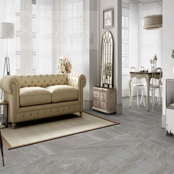 Morley Grafito Porcelain Floor Tiles supplied by Tile Town. Discounted Natural…
