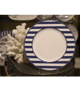 Beach Towel Dinner Plate