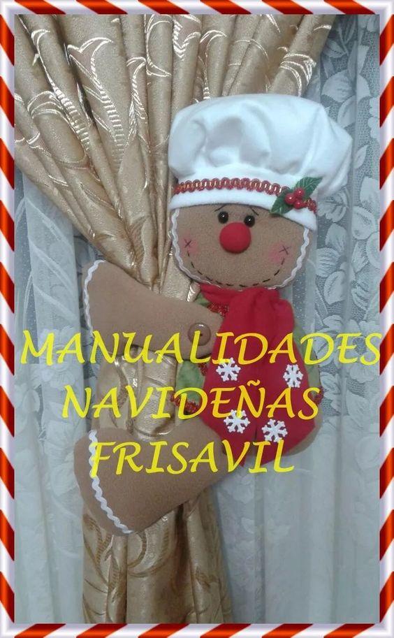 cortineros manualidades navideñas frisavil