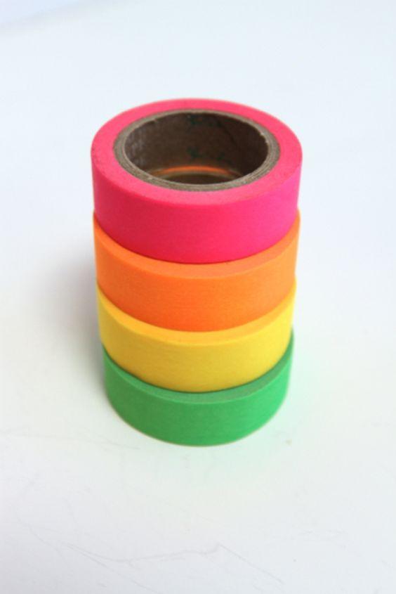 Washitape in Neonfarben // neon-colored masking tape via DaWanda.com