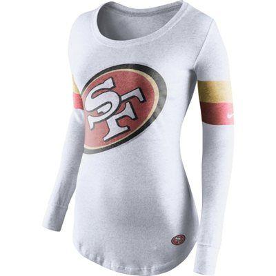 San Francisco 49ers Nike Women's Take it Long Long Sleeve T-Shirt ...