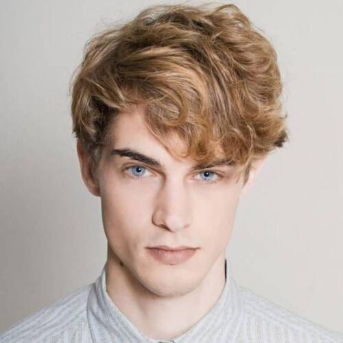50 Blonde Hairstyles For Men To Try Out Curly Hair Men Men