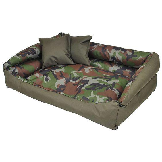 Panier corbeille couchage pour chien Flores FORTISLINE 120/90cm OLIVE-CAMOUFLAGE