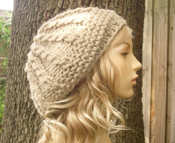 Knitting Pattern - Knit Hat Knitting Pattern - Knit Hat Pattern for The Big Rasta Thumb Cable Beret - PDF Pattern. $5.00, via Etsy.