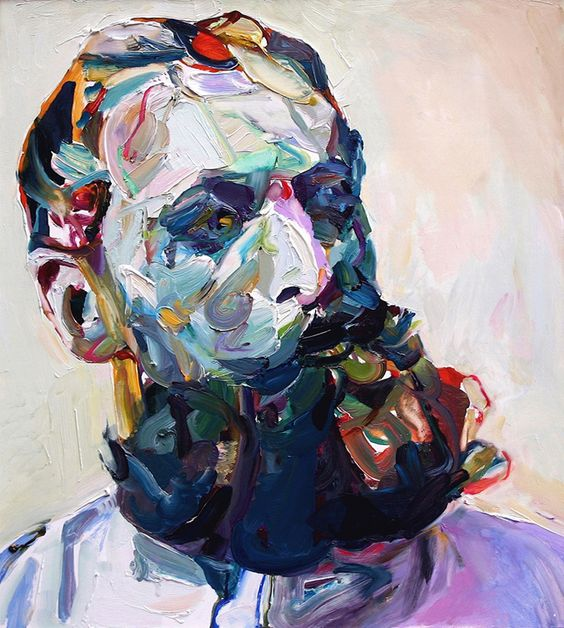 "Aaron Smith, 'Bearded' 2009, oil on panel, 24"" x 22"""