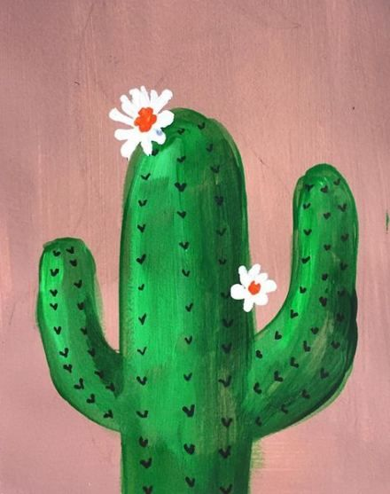 Super Painting Canvas Cactus Canvases 49 Ideas Cute Canvas Paintings Simple Canvas Paintings Easy Canvas Art
