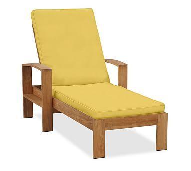 Madera Single Chaise Cushion, Sunbrella(R) Buttercup