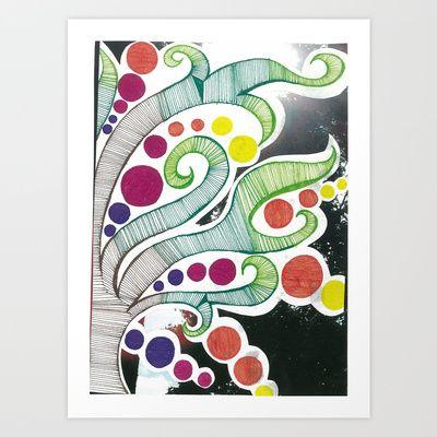 Squared Tree Art Print by Ana Rebeca Castillo - $20.00
