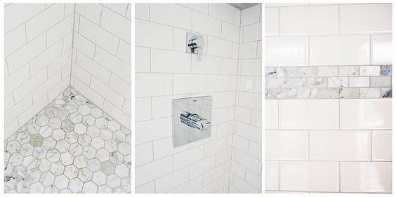 a little subway tile + a little marble tile = perfection.