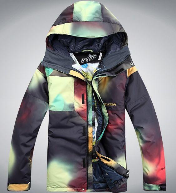 Free shipping new men&39s outdoor waterproof snowboard jacket ski