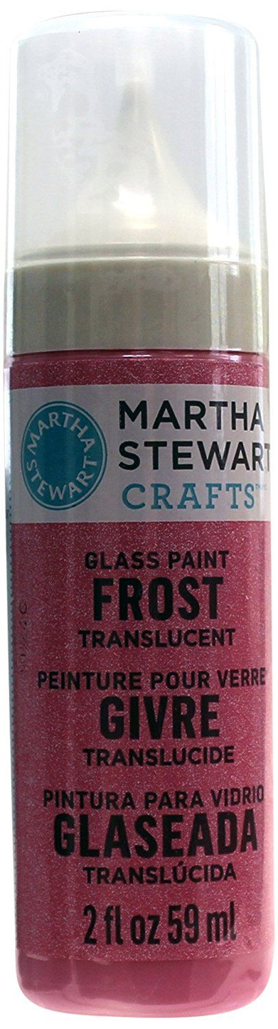 Martha Stewart Crafts Frost Translucent Glass Paint in Assorted Colors (2-Ounce), 33191 Bubble Gum