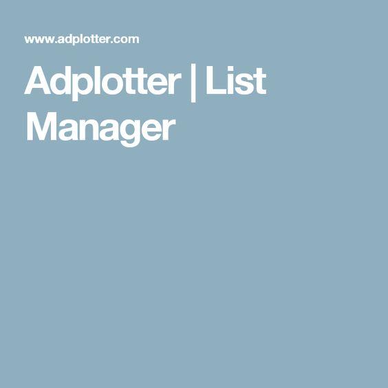 Adplotter  |  List Manager