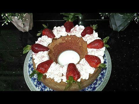 كيكة الفراولة اللذيذة من غير جيلي روووعة Strawberry Cake Youtube Desserts Christmas Tree Skirt Holiday
