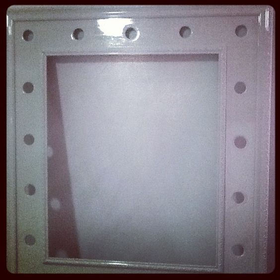 Espelho de camarim com moldura de quadro! :D